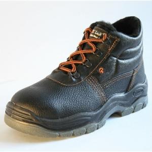 Ботинки рабочие зимние с металлическим носком утепленные иск. мех. (ПУ+ТПУ)