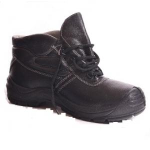 Ботинки рабочие кожаные с искусственным мехом, метал. носок