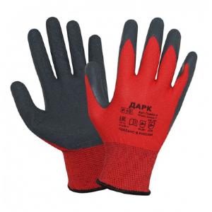 Перчатки рабочие ДАРК трикотажные с латексным покрытием