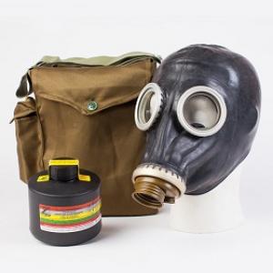 Противогаз фильтрующий ППФ Бриз марка А1, с маской ШМП