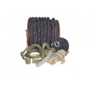 Противогаз ПШ-20 шланг резино-тканевый армированный 20м. на барабане, маска шмп-1шт.