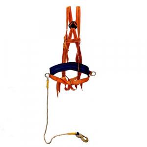 Страховочная привязь с наплеч. и набедр. лямками УСП 2ВЖ (строп канат) (пояс предохранительный ПП-2ВЖ)