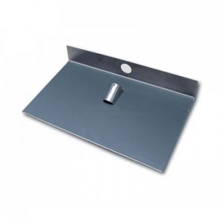 Движок для снега алюминиевый однобортный с накладкой