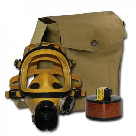 Противогаз фильтрующий ППФ Бриз марка А1, с маской ППМ
