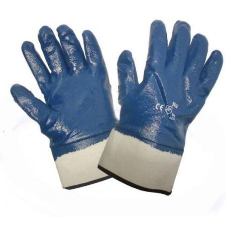 Перчатки нитриловые манжет крага/резинка