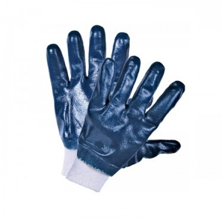 Перчатки нитриловые манжет трикотажный