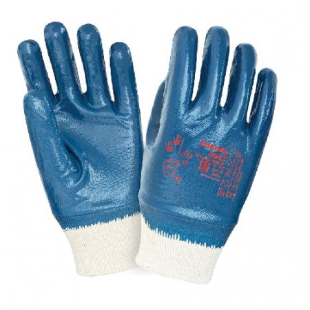 Перчатки нитриловые WG манжет резинка, покрытие полное