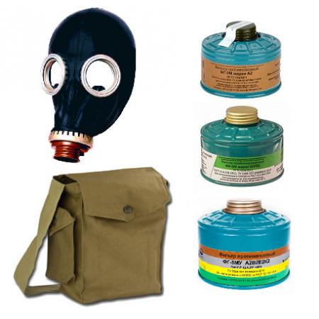 Противогаз ППФ-5М с фильтром ФГ-5М А2В2Е2К2, маска ШМП