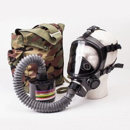 Противогаз промышленный ППФ марки А3В3Е2К2АХHgР3D с маской ШМП