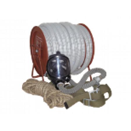 Шланговый противогаз ПШ-20РВ шланг ПВХ армированный 20м. Ручная воздуходувка, маска ШМП-1шт.