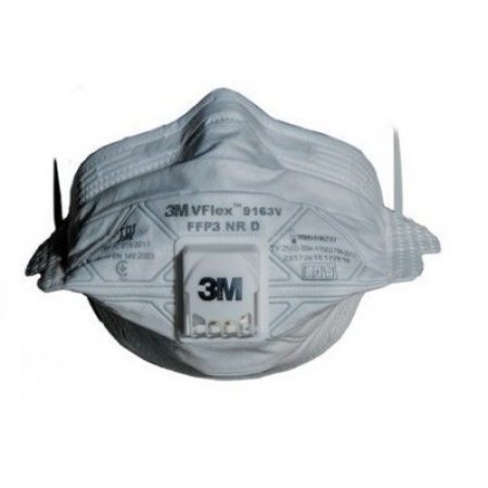 Полумаска фильтрующая 3M VFlex 9163V FFP3 (продажа от 50 шт. организациям или ИП)
