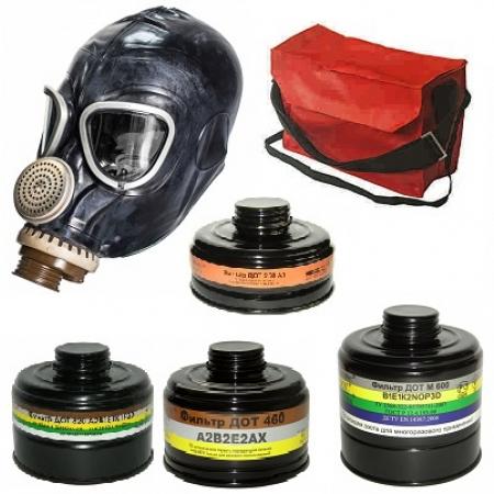 Противогаз ПФМГ-96 с фильтром  ДОТ 460 марки А2В2Е2, К2, А2В2Е2АX  с маской ШМ-2012, МАГ