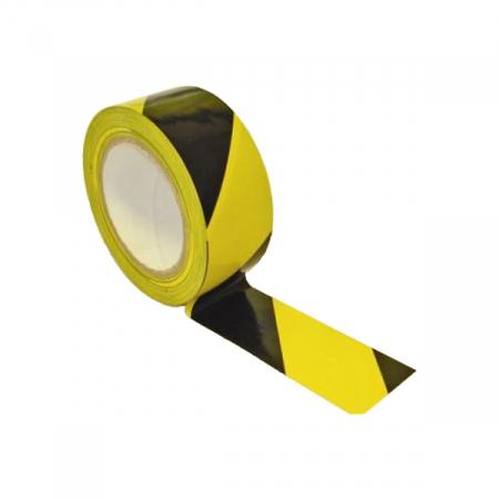 Лента оградительная ЛО-250 черно-желтая