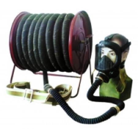 Противогаз шланговый ПШ-20ЭРВ (ПШ-2-20) - резино-тканевый армированный шланг, ЭРВ-воздуходувка, маска ШМП